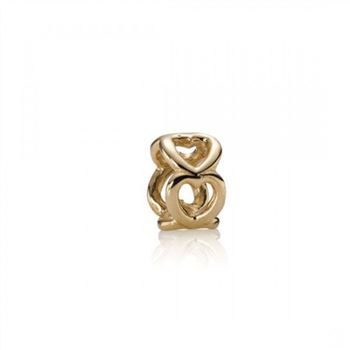 Pandora Open Heart Spacer 14K Gold