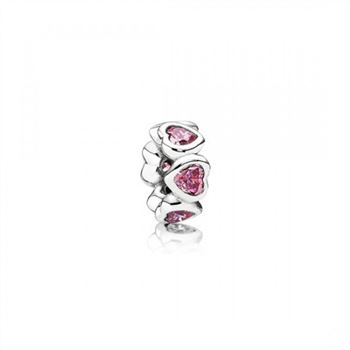 Pandora Space In My Heart Spacer Fancy Pink CZ