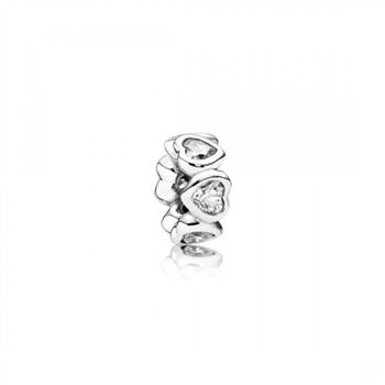 Pandora Space In My Heart Spacer Clear CZ