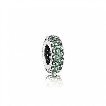 Pandora Inspiration Within Charm Spacer Green CZ