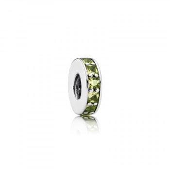 Pandora Eternity Spacer Olive Green Crystal