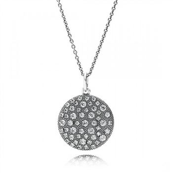 Pandora Cosmic Stars Pendant Necklace Clear CZ