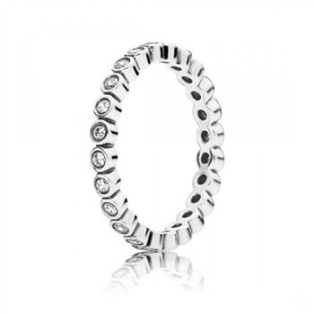 Pandora Alluring Petite Brilliant Stackable Ring Clear CZ