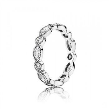 Pandora Alluring Brilliant Marquise Stackable Ring CZ