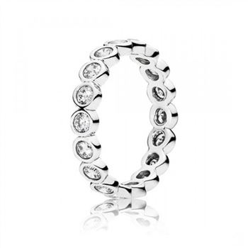 Pandora Alluring Brilliant Stackable Ring Clear CZ