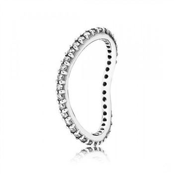 Pandora Always Wave Stackable Ring Clear CZ