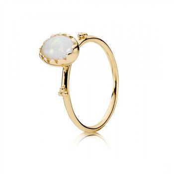 Pandora Soft Sweetness White Opal 14K Gold