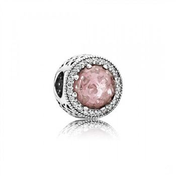 Pandora Radiant Hearts, Blush Pink Crystal Clear CZ