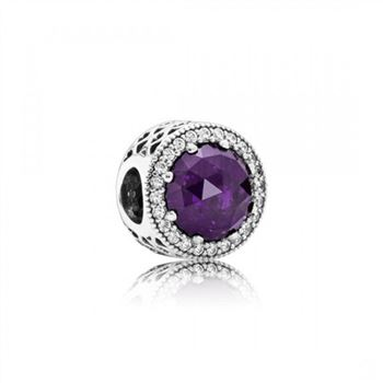 Pandora Radiant Hearts, Royal-Purple Crystal Clear CZ