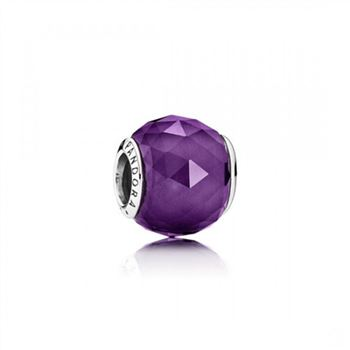Pandora Geometric Facets Royal-Purple Crystal